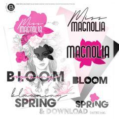 DL Schriftzug Miss Magnolia / TB
