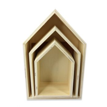 "Holz Boxen ""Häuschen"""