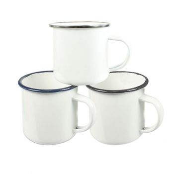 Emaille Tasse sublimierbar