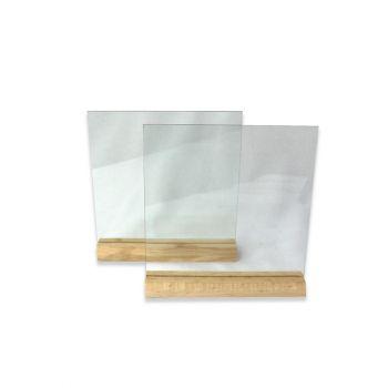 Glasplatten mit Holzständer