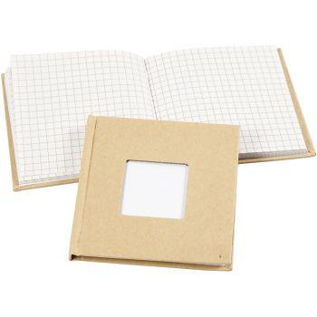 "2er Set Notizbuch ""Quadrat mit Fenster"""
